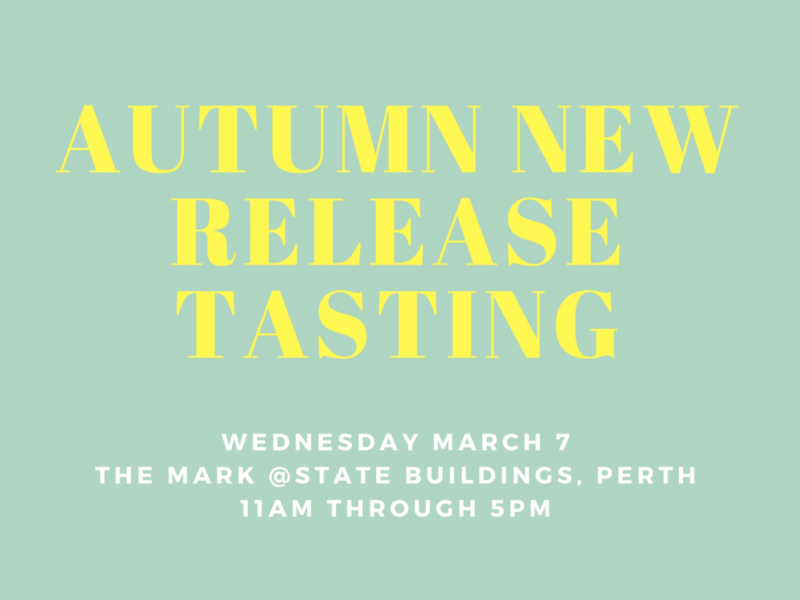 Autumn New Release Tasting 2018